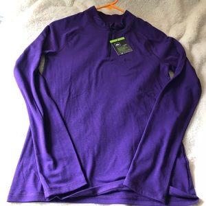 NWT zip top high neck zip Kids XL athletic shirt